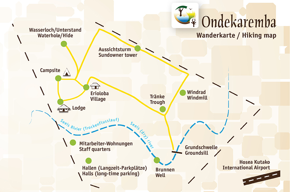 Ondekaremba hiking map